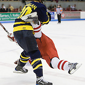 Ryan Flanigan (Merrimack - 20), Joe Pereira (BU - 6) - The Boston University Terriers defeated the Merrimack College Warriors 6-4 (EN) on Saturday, January 16, 2010, at Agganis Arena in Boston, Massachusetts.