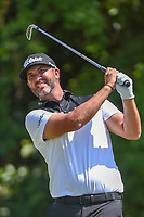 Scott Piercy (USA) watches his tee shot on 3 during Round 1 of the Zurich Classic of New Orl, TPC Louisiana, Avondale, Louisiana, USA. 4/26/2018.<br /> Picture: Golffile | Ken Murray<br /> <br /> <br /> All photo usage must carry mandatory copyright credit (&copy; Golffile | Ken Murray)
