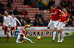Stefan Scougill of Sheffield Utd is fouled by Ben Turner of Coventry City - English League One - Sheffield Utd vs Coventry City - Bramall Lane Stadium - Sheffield - England - 13th December 2015 - Pic Simon Bellis/Sportimage-