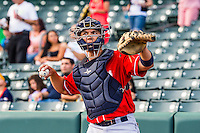 Steve Baron (24) of the Tacoma Rainiers before the game against the Salt Lake Bees in Pacific Coast League action at Smith's Ballpark on September 1, 2015 in Salt Lake City, Utah. The Bees defeated the Rainiers 10-1.  (Stephen Smith/Four Seam Images)