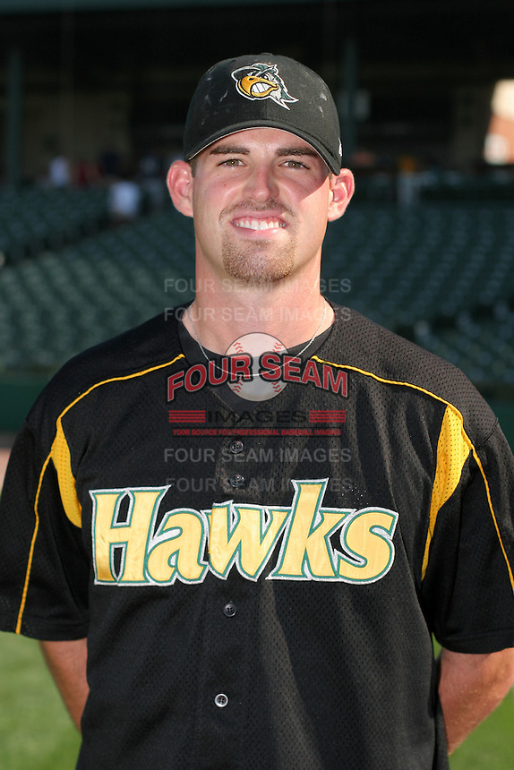 South Bend Silverhawks Anthony Cupps poses for a photo after a Midwest League game at O'Brien Field on July 16, 2006 in Peoria, Illinois.  (Mike Janes/Four Seam Images)