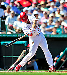 10 March 2010: St. Louis Cardinals' outfielder Ryan Ludwick in action during a Spring Training game against the Washington Nationals at Roger Dean Stadium in Jupiter, Florida. The Cardinals defeated the Nationals 6-4 in Grapefruit League action. Mandatory Credit: Ed Wolfstein Photo