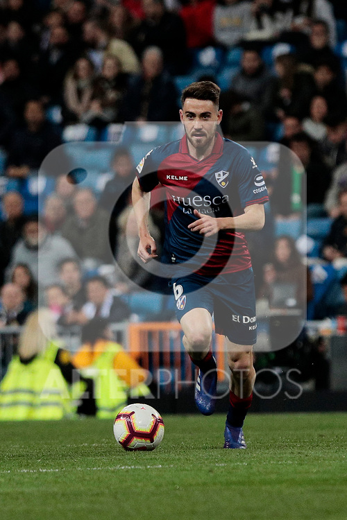 SD Huesca's Moises Gomez during La Liga match between Real Madrid and SD Huesca at Santiago Bernabeu Stadium in Madrid, Spain.March 31, 2019. (ALTERPHOTOS/A. Perez Meca)