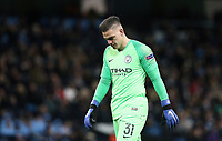 Manchester City's Ederson<br /> <br /> Photographer Rich Linley/CameraSport<br /> <br /> UEFA Champions League Group F - Manchester City v TSG 1899 Hoffenheim - Wednesday 12th December 2018 - The Etihad - Manchester<br />  <br /> World Copyright © 2018 CameraSport. All rights reserved. 43 Linden Ave. Countesthorpe. Leicester. England. LE8 5PG - Tel: +44 (0) 116 277 4147 - admin@camerasport.com - www.camerasport.com