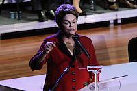 SAO PAULO, SP, 02.05.2014 - ENCONTRO NACIONAL DO PT - Dilma Rousseff presidente da Republica durante XIV Encontro Nacional do PT no Anhembi região norte da cidade de Sao Paulo nesta sexta-feira, 02. (Foto: Amauri Nehn / Brazil Proto Press).