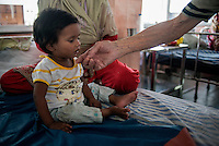 Father Laborde visits the Hospital of Asha Neer. Howrah. West Bengal, India, Arindam Mukherjee/Agency Genesis