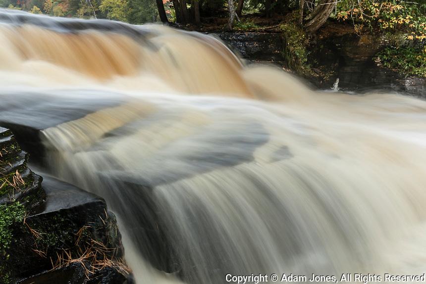Cascade on lower section of Tahquamenon Falls, Tahquamenon Falls State Park, Upper Peninsula, Michigan