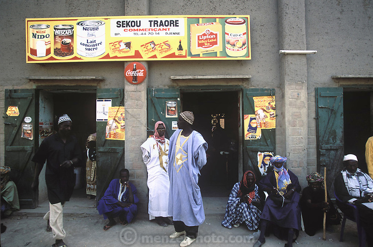 Store with non-perishables and dry goods in Djenne, Mali. (Supporting image from the project Hungry Planet: What the World Eats).