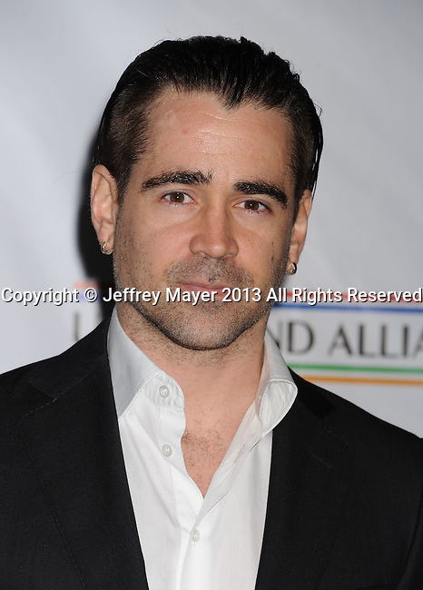 SANTA MONICA, CA - FEBRUARY 21: Colin Farrell arrives at The US-Ireland Alliance Pre-Academy Awards Gala at Bad Robot on February 21, 2013 in Santa Monica, California.