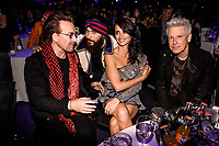 MADRID, SPAIN - NOVEMBER 10: Bono, Penelope Cruz and Adam Clayton attend the 40 Music Awards press room at WiZink Center on November 10, 2017 in Madrid, Spain. Credit: Jimmy Olsen/MediaPunch ***NO SPAIN*** /NortePhoto.com