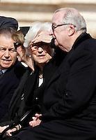 I Reali del Belgio Paola e Alberto II alla messa di Pasqua celebrata da Papa Francesco in Piazza San Pietro, Citta' del Vaticano, 27 marzo 2016.<br /> Belgium's Queen Paola and King Albert II attend the Easter Mass celebrated by Pope Francis in St. Peter's Square, Vatican, 27 March 2016.<br /> UPDATE IMAGES PRESS/Isabella Bonotto<br /> <br /> STRICTLY ONLY FOR EDITORIAL USE<br /> <br /> *** ITALY AND GERMANY OUT ***