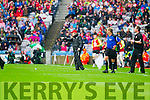Mickey Harte Tyrone Manager in the All Ireland Semi Final at Croke Park on Sunday.