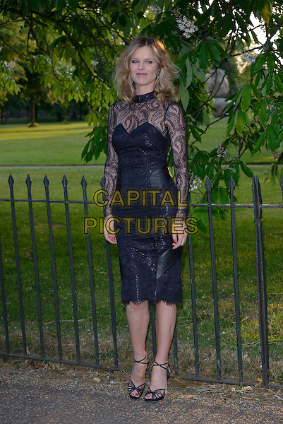 Eva Herzigova<br /> Serpentine Gallery Summer Party, Kensington Park Gardens, London, England.<br /> 26th June 2013<br /> full length dress black lace <br /> CAP/PL<br /> &copy;Phil Loftus/Capital Pictures