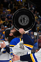 June 12, 2019: St. Louis Blues right wing Chris Thorburn (22) kisses the Stanley Cup at game 7 of the NHL Stanley Cup Finals between the St Louis Blues and the Boston Bruins held at TD Garden, in Boston, Mass. The Saint Louis Blues defeat the Boston Bruins 4-1 in game 7 to win the 2019 Stanley Cup Championship.  Eric Canha/CSM