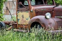 Abandoned truck in Phillipsburg Missouri on Route 66.