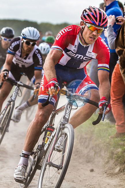 Thor HUSHOVD (NOR, BMC) on sector 8 Pont-Thibaut to Ennevelin  - Paris-Roubaix - 13th April 2014 - Photo by Thomas van Bracht / Peloton Photos