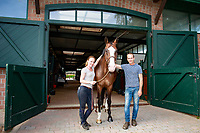 Stable Managers: Inge and Jason: 2017 GER-YARD VISIT: Daniel Meech. Niederkrüchten, Germany. Monday 31 July. Copyright Photo: Libby Law Photography