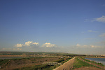 Israel, Beth Shean valley. Beth Shean valley, road by Nahal Kibbutzim
