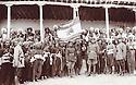 Iran 1930 .3rd from right, Ali Agha, grand-father of Ali Ali and chiefs of Kurdish tribes with the persian flag.Iran 1930.3eme a droite, Ali Agha, grand-pere de Ali Ali et les chefs de tribus kurdes avec le drapeau persan