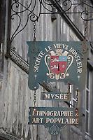 Europe/France/Basse-Normandie/14/Calvados/Honfleur: Enseigne du Musée d'Ethnographie Société du Vieux Honfleur