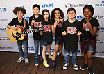 'School of Rock' cast backstage at United Airlines Presents #StarsInTheAlley free outdoor concert in Shubert Alley on 6/2/2017 in New York City.