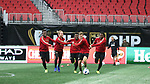 ATLANTA, GA - DECEMBER 07: Atlanta United FC players. The MLS Cup 2018 Team Training Sessions were held on December 7, 2018 at the Mercedes Benz Stadium in Atlanta, GA.