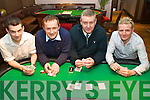 Texas Hold'em - Having a great time at the Abbey Inn Annual Poker Classic in aid of Our Lady's Hospital for Sick Chideren, Crumlin on Sunday night were l/r Fiach Whelan, Ollie Malloy, Paul Hourigan, and Damien O'Donoghue. ................................................................................................................................................ ............