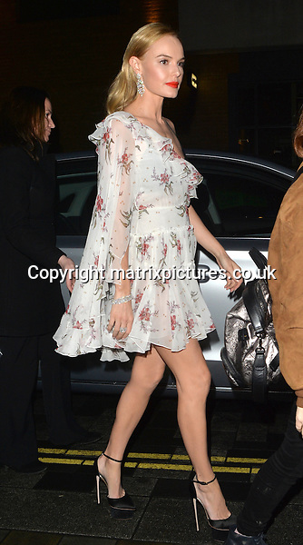 NON EXCLUSIVE PICTURE: MATRIXPICTURES.CO.UK<br /> PLEASE CREDIT ALL USES<br /> <br /> WORLD RIGHTS<br /> <br /> Kate Bosworth spotted in London's Mayfair on her way to InStyle EE BAFTAs Rising Star bash. <br /> <br /> FEBRUARY 1st 2017<br /> <br /> REF: LTN 17253