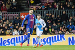 Gerard Pique of FC Barcelona (L) in action during the La Liga 2017-18 match between FC Barcelona and Deportivo La Coruna at Camp Nou Stadium on 17 December 2017 in Barcelona, Spain. Photo by Vicens Gimenez / Power Sport Images