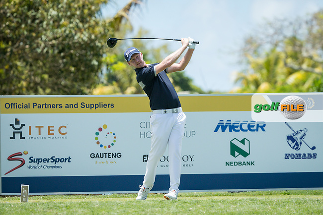 Justin harding (RSA) during the 1st round of the AfrAsia Bank Mauritius Open, Four Seasons Golf Club Mauritius at Anahita, Beau Champ, Mauritius. 29/11/2018<br /> Picture: Golffile | Mark Sampson<br /> <br /> <br /> All photo usage must carry mandatory copyright credit (© Golffile | Mark Sampson)
