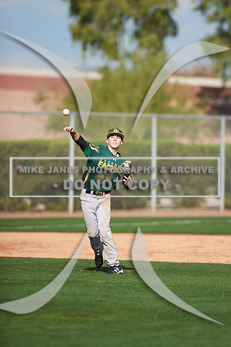 Derek Chavez (1) of Carson High School in Carson, California during the Under Armour All-American Pre-Season Tournament presented by Baseball Factory on January 14, 2017 at Sloan Park in Mesa, Arizona.  (Zac Lucy/Mike Janes Photography)