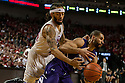 March 1, 2014: Terran Petteway (44) of the Nebraska Cornhuskers taps the ball away from Drew Crawford (1) of the Northwestern Wildcats during the first half at the Pinnacle Bank Arena, Lincoln, NE. Nebraska 54 Northwestern 47.