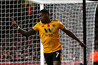 Ivan Cavaleiro of Wolves celebrates scoring the first Wolves goal during Arsenal vs Wolverhampton Wanderers, Premier League Football at the Emirates Stadium on 11th November 2018