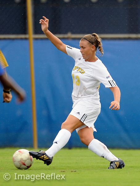 Florida International University women's soccer player midfielder Marina Pappas (13) plays against the University of Buffalo which won the game 2-0 on August 31, 2008 at Miami, Florida. .