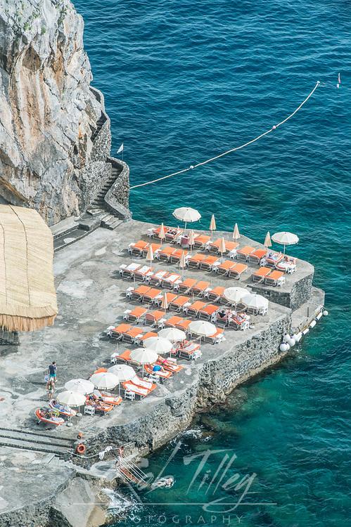 Europe, Italy, Amalfi Coast, Positano, Hotel San Pietro Sun Deck