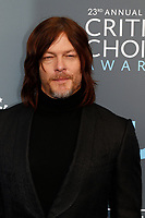 Norman Reedus attend the 23rd Annual Critics' Choice Awards at Barker Hangar in Santa Monica, Los Angeles, USA, on 11 January 2018. Photo: Hubert Boesl - NO WIRE SERVICE - Photo: Hubert Boesl/dpa /MediaPunch ***FOR USA ONLY***