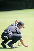 Thorbjorn Olesen (DEN) on the 15th green during the 3rd round at the WGC HSBC Champions 2018, Sheshan Golf CLub, Shanghai, China. 27/10/2018.<br /> Picture Fran Caffrey / Golffile.ie<br /> <br /> All photo usage must carry mandatory copyright credit (&copy; Golffile | Fran Caffrey)