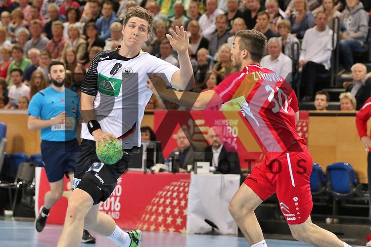 Kiel, 14.06.15, Sport, Handball, L&auml;nderspiel, EM-Qualifikation, Deutschland - &Ouml;sterreich : Finn Lemke (TBV Lemgo / Deutschland, 06#), Boris Zivkovic (Alpla HC Hard / &Ouml;sterreich, #30)<br /> <br /> Foto &copy; P-I-X.org *** Foto ist honorarpflichtig! *** Auf Anfrage in hoeherer Qualitaet/Aufloesung. Belegexemplar erbeten. Veroeffentlichung ausschliesslich fuer journalistisch-publizistische Zwecke. For editorial use only.