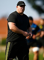 Scrum coach Dan Cron during the Hurricanes training session at Northwood High School in Durban, South Africa on Tuesday, 28 May 2019. Photo: Steve Haag / stevehaagsports.com