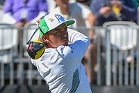 Rickie Fowler (USA) watches his tee shot on 1 during round 1 of the Arnold Palmer Invitational at Bay Hill Golf Club, Bay Hill, Florida. 3/7/2019.<br /> Picture: Golffile | Ken Murray<br /> <br /> <br /> All photo usage must carry mandatory copyright credit (&copy; Golffile | Ken Murray)