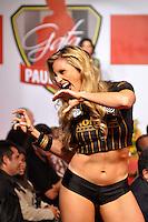 SAO PAULO, SP, 03 DE MAIO DE 2012 - GATA DO PAULISTÃO 2012 - Representante do Paulista de Jundiaí  durante disputa do Gata do Paulistão 2012, competição realizada na noite desta quinta feira, na sede da Federação Paulista no bairro da Barra Funda em São Paulo.(FOTO: LEVI BIANCO - BRAZIL PHOTO PRESS)