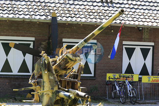 Military museum at Deelen during Stage 2 of the 2016 Giro d'Italia running 190km from Arnhem to Nijmegen, The Nethrerlands. 7th May 2016.<br /> Picture: Eoin Clarke | Newsfile<br /> <br /> <br /> All photos usage must carry mandatory copyright credit (&copy; Newsfile | Eoin Clarke)
