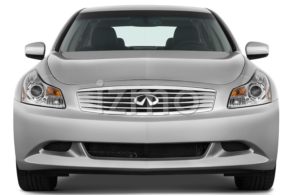 Straight front view of a 2009 Infiniti G37 S Sedan