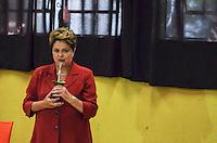 PORTO ALEGRE, RS, 26.10.2014 - ELEICOES - DILMA ROUSSEFF - A candidata Dilma Rousseff registra voto na Escola Estadual Santos Dumont, em Porto Alegre,deste domingo, acompanhada pelo governador do Rio Grande do Sul Tarso Genro. (Foto: <br /> Henrique Standt / Brazil Photo Press)