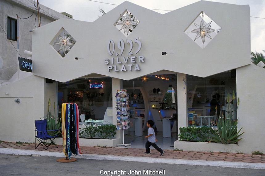 Silver jewelry shop in Puerto Morelos, Quintana Roo, Mexico