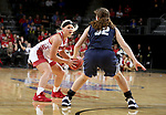 SIOUX FALLS, SD - MARCH 8: Madison McKeever #23 of the South Dakota Coyotes looks to drive against the Oral Roberts Golden Eagles at the 2020 Summit League Basketball Championship in Sioux Falls, SD. (Photo by Dave EggenInertia)