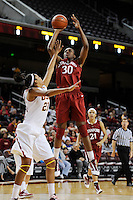 January 8, 2010.  Stanford's Nnemkadi Ogwumike in action against USC.  Stanford defeated USC, 82-62.LOS ANGELES, CA - JANUARY 8:  Nnemkadi Ogwumike of the Stanford Cardinal during Stanford's 82-62 win against the USC Trojans on January 8, 2010 at the Galen Center in Los Angeles, California.