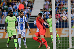 FC Barcelona's Ter Stegen receives a goal during La Liga match between CD Leganes and FC Barcelona at Butarque Stadium in Madrid, Spain. September 26, 2018. (ALTERPHOTOS/A. Perez Meca)