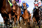 November 3, 2018: The field heads to the first turn in the Breeders' Cup Mile on Breeders' Cup World Championship Saturday at Churchill Downs on November 3, 2018 in Louisville, Kentucky. Alex Evers/Eclipse Sportswire/CSM