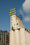 Minnesota, Twin Cities, Minneapolis-Saint Paul: Mill City Museum, showing flour milling history in Minneapolis.  Grain elevators are part of the museum..Photo mnqual253-75142..Photo copyright Lee Foster, www.fostertravel.com, 510-549-2202, lee@fostertravel.com.